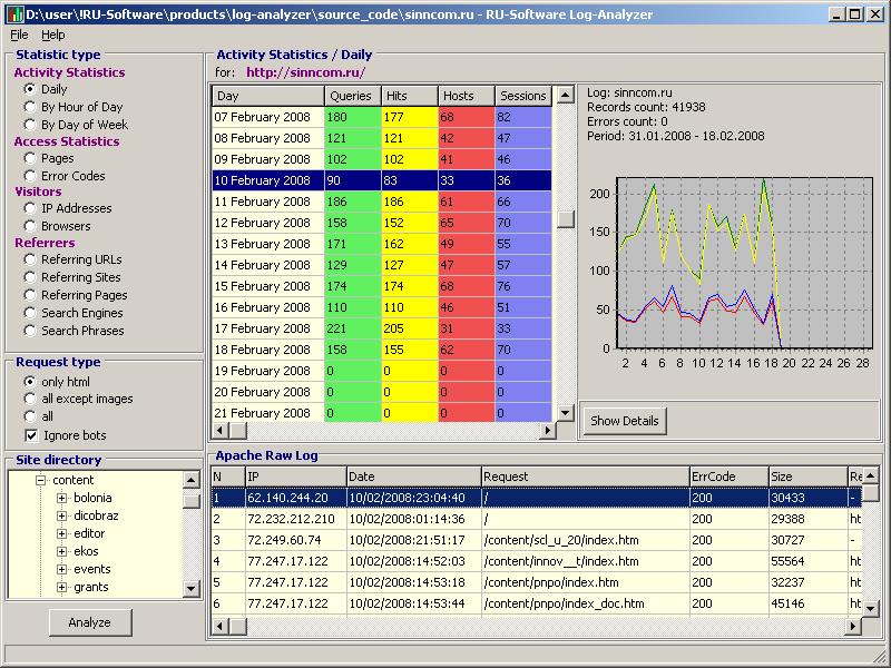 Click to view RU-Software Log-Analyzer 1.0.1.83 screenshot